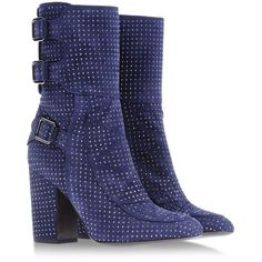 Laurence Dacade Ankle Boots ($1,235) ❤ liked on Polyvore featuring shoes, boots, ankle booties, dark blue, leather boots, dark blue ankle boots, laurence dacade boots, leather ankle boots and leather ankle booties