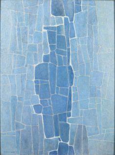 Marvin Cone - Blue on Blue, 1964 - Cedar Rapids Museum of Art