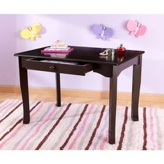 KidKraft Avalon Table (Brown) ($120) ❤ liked on Polyvore featuring home, children's room, children's furniture and brown
