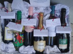 Wine from the bridesmaids for dif occasions during marriage to give at bachelorette party