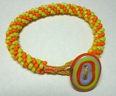 free kumihimo patterns | Kumihimo Button Loop by Sally Battis | Jewelry Pattern