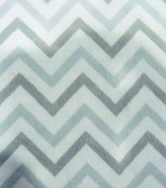 Snuggle Flannel Fabric- Chevron Gray Small, , hi-res baby room ideas