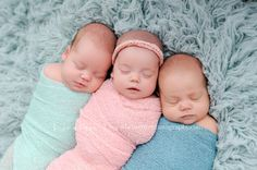 Newborn Baby Triplet Photography {B Couture Photography}