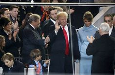 Donald III (Donald Jr's son) turned to look at his grandfather as the new president and Fi...