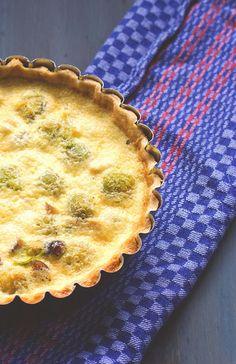 Rezept für schnelle Winterküche: vegetarische Rosenkohl-Maronen-Quiche für Dinner und Lunch