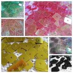 1000 Iridescent Square Sequin Many Choice Of Colours