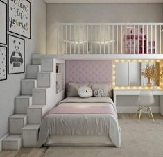 The Lost Secret of Dream Rooms for Teens Girls Bedrooms Loft Beds - decorinc. The Lost Secret of Dream Rooms for Teens Girls Bedrooms Loft Beds – decorincite Bed For Girls Room, Bedroom Decor For Teen Girls, Cute Bedroom Ideas, Room Ideas Bedroom, Awesome Bedrooms, Cool Rooms, Girl Room, Girl Bedrooms, Loft Beds For Teens