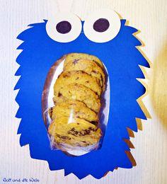 Krümelmonster Verpackung für Cookies / http://juli-und-die-welt.blogspot.de