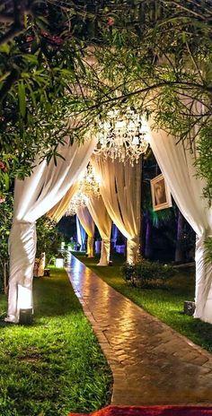 secret garden entryway