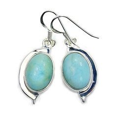 'Blue Lagoon' Sterling Silver Genuine Dominican Larimar Dangle Earrings  Price : $51.95 http://www.silverplazajewelry.com/Sterling-Silver-Genuine-Dominican-Earrings/dp/B00L3CW0F2