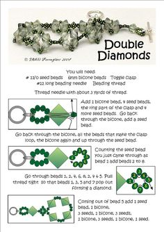 Bead Mavens: Double Diamonds http://beadmavens.blogspot.com/2011/05/double-diamonds.html