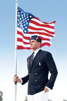 USA Olympic Team Fashion, Courtesy of Ralph Lauren. The beret was a bold choice, Ralph.