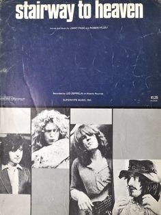 Led Zeppelin Stairway To Heaven Vtg Sheet Music 1972 Guitar Tab Vocal Superhype | eBay