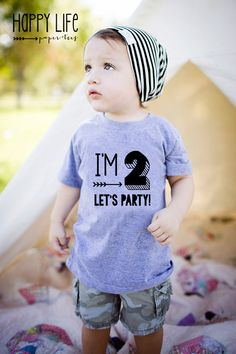 Im TWO Let's PARTY T-Shirt Birthday Shirt by myhappylifedesigns