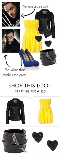 """Prom with a superhero ~ Wolverine"" by moonheart2000 ❤ liked on Polyvore featuring Wolverine, Three Little Words, Shaun Leane, Betsey Johnson, Le Silla, prom, superhero, wolverine, sabretooth and marvel"