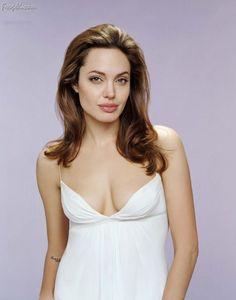 Angelina Jolie showcasing her Cleavage