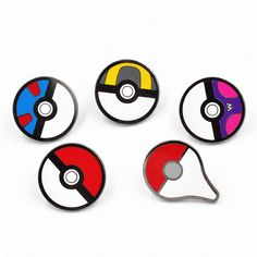 Pokemon Brooches Anime Cute Harajuku Ball Pokemon Go Enamel Pin Badge Cameo Kids Boys Girls Game Movie Broszka Vintage Esmaltes #Affiliate