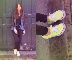 NEON VANS  (by Justine Rebbot) http://lookbook.nu/look/3759817-NEON-VANS