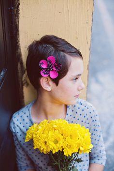 flower clip - funky fuchsia. $12.00, via Etsy.