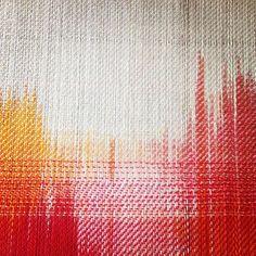 Painted Warp, Points, Savior, Textile Art, Ikat, Fiber Art, Textiles, Couture, Knitting