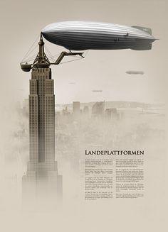 Zeppelin anchor into Empire State Building - Google Search