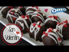 Postre Fácil para San Valentín SIN HORNO! | Bolitas de Oreo - YouTube