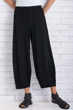 Jersey Barefoot Pant by Lisa Bayne . In a soft, lightweight jersey knit that's great for warmer weather, this distinctive lantern pant combines lounge-worthy comfort and on-the-town polish.