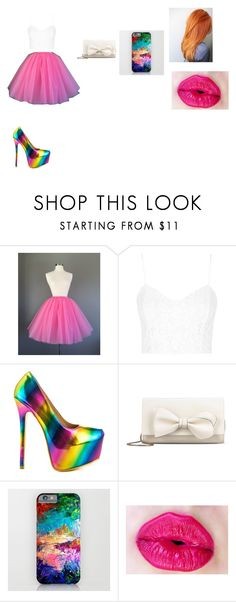 """multicolor"" by camelia-kaylahana on Polyvore featuring Topshop, Shoe Republic LA and RED Valentino"