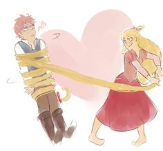 NaLu x Tangled crossover by awesome http://yuuba.tumblr.com/