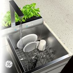 What does doing dishes look like in Home 2025? An in-sink dishwasher that cleans small loads in 5 minutes.