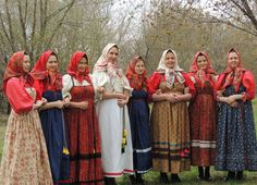 Russian traditional costume. Arkhangelsk region. Kargopol