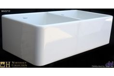 Whitehaus WH3719 Double Bowl Fireclay Farmhouse Apron Front Kitchen Sink at bluebath.com
