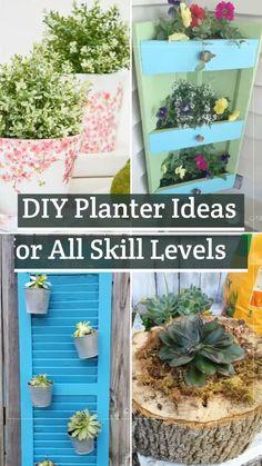 Garden Yard Ideas, Diy Garden Projects, Garden Crafts, Patio Ideas, Patio Decorating Ideas On A Budget, Diy On A Budget, Porch Decorating, Diy Planters, Garden Planters