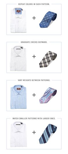How to pair shirts with ties