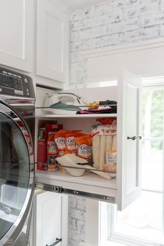 We built a custom Laundry Room Cabinet with pull-out shelves and cabinet doors provided by CabinetNow for our Laundry Room Renovation project! Laundry Room Cabinets, Laundry Room Storage, Diy Cabinets, Closet Storage, Storage Cabinets, Diy Storage, Storage Ideas, Storage Shelves, Shelf