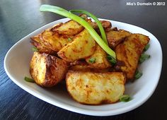 Mia's Domain: Paprika Garlic Mustard Potato Wedges