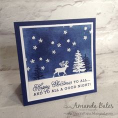 The Craft Spa - Stampin' Up! UK independent demonstrator : Greetings From Santa Scene