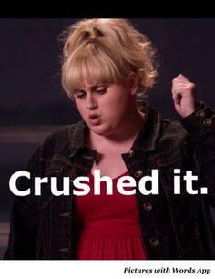 why the heck is she so funny. if u haven't seen the movie pitch perfect your missing out Pitch Perfect Quotes, Pitch Perfect 1, Tv Quotes, Movie Quotes, Fat Amy Quotes, Funny Quotes, Rebel Wilson Quotes, Rebel Wilson Funny, Celebs
