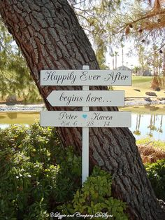 DiReCTioNaL WeDDiNg SiGnS - Rustic Wedding Sign - HaPPiLy EVeR AfTeR SiGn - Tiffany Blue Wedding by lizzieandcompany, etsy