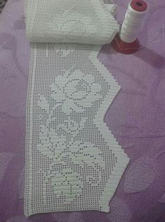 Bag Tutorial and Ideas Filet Crochet, Crochet Lace Edging, Crochet Borders, Crochet Doilies, Curtain Patterns, Lace Patterns, Crochet Patterns, Crochet Zebra, Crochet Bunny