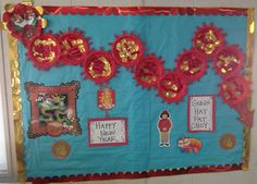 Art room Chinese New Year bulletin board dragon | Art room ...