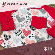 Heart tee 3/4 length sleeves super soft Shirts & Tops Tees - Short Sleeve