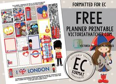 Free Printable 'Ello London Planner Stickers from Victoria…