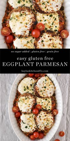Gluten Free Deserts, Gluten Free Recipes For Dinner, Sugar Free Recipes, Gf Recipes, Dinner Recipes, Gluten Free Dinners, Gluten Free Eggplant Parmesan, Healthy Eggplant