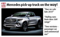 New Mercedes pick-up truck - info