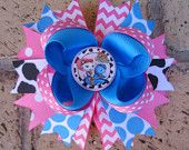 Sheriff Callie's Wild West Disney Junior Inspired Custom Boutique Stacked Layered Hair Bow Sheriff Callie Hair Bow for Birthday Party