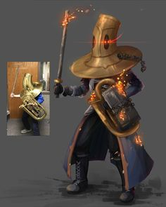 Somebody actually made this a character Fantasy Character Design, Character Design Inspiration, Character Concept, Character Art, Concept Art, Music Humor, Music Memes, Dnd Characters, Fantasy Characters