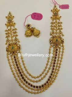 gold balls long chain