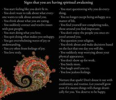 Awakening,  suits me much better :)   This is something to aspire too.