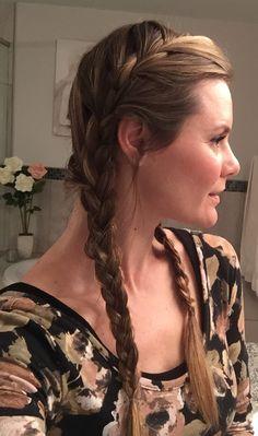 When else can you use pigtail braids if not for the Rodeo! . E é de tranças que vou para o Rodeio  Amo carrossel!